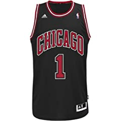 Buy Derrick Rose Chicago Bulls #1 NBA Mens Swingman Stitched Black Jersey by adidas