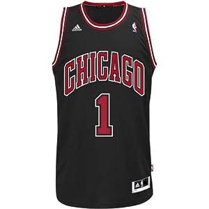 Derrick Rose Chicago Bulls #1 NBA Mens Swingman Stitched Black Jersey by adidas