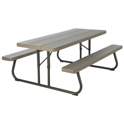 Lifetime 60105 Wood Grain Picnic Table, 6-Feet picture