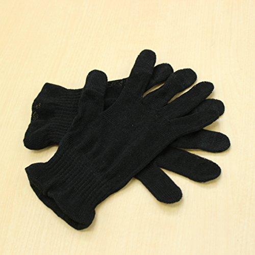 麻福 麻福 ヘンプおやすみ 手袋 Sサイズ タッチパネル スマートフォン対応