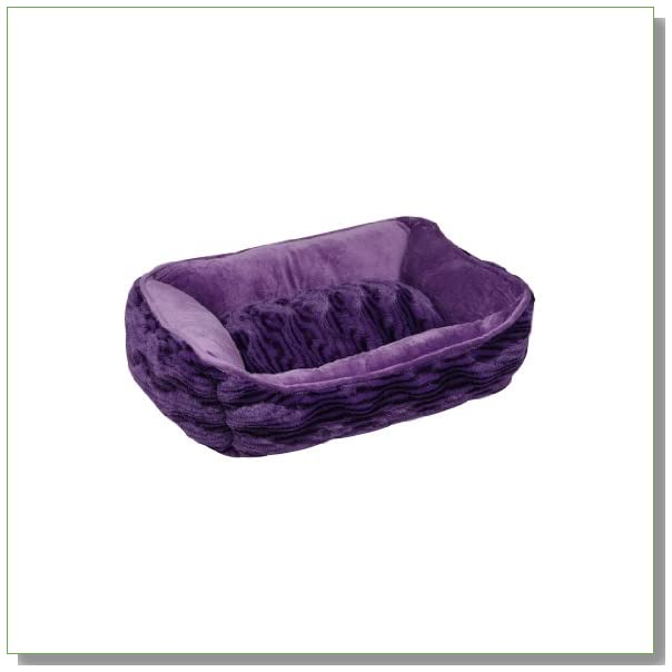 Dogit Style Cuddle Bed, Wild Animal, Purple X-Small