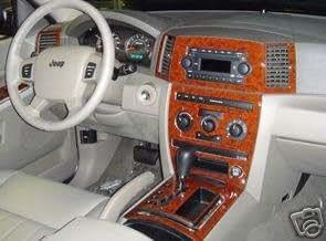 jeep grand cherokee laredo limited interior burl wood dash trim kit set 2005 2006. Black Bedroom Furniture Sets. Home Design Ideas