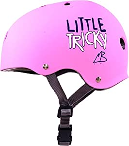 Triple Eight Little Tricky Skateboard Helmet Jr - Pink Rubber