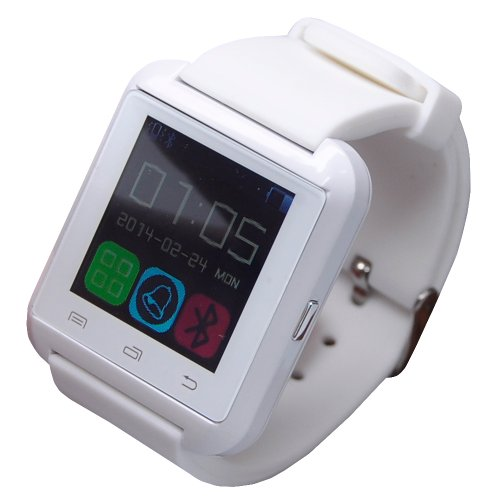 """Vwtech Newest 1.48""""Tft Lcd Touch Screen Bluetooth Smart Watch Wristwatch Sync Anti-Lost For Smartphone Iphone Ios Samsung Android (White)"""