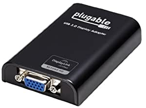 Plugable USB 3.0 to VGA Adapter for Multiple Monitors up to 1920x1080 Each (USB 2.0 Compatible; DisplayLink DL-3100 Chipset)