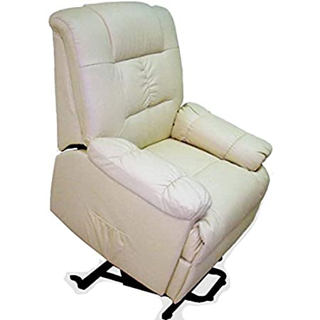 MIVIS - Sillon masaje levantapersonas con calefaccion zona lumbar beige, tamaño 100 / 90 / 100 cm, color Blanco