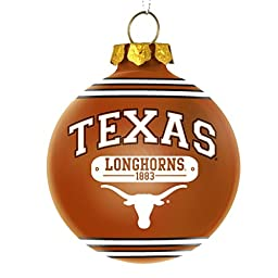 Texas Longhorns Official NCAA 2014 Year Plaque Ball Ornament by Forever Collectibles