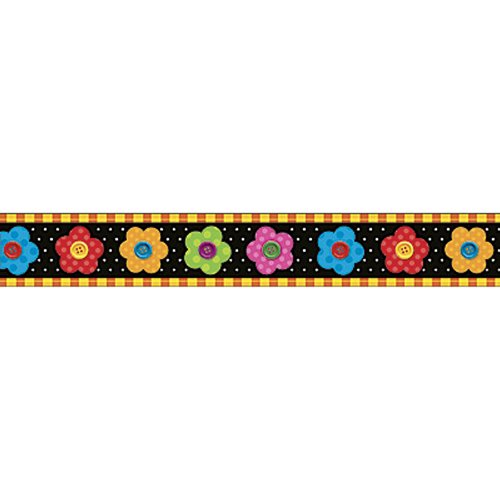 Trend Enterprises Button Flowers Bolder Border (T-85077)