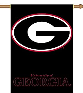 Buy NCAA Georgia Bulldogs 2-Sided 28-by-40 inch House Banner with Pole Sleeve by BSI