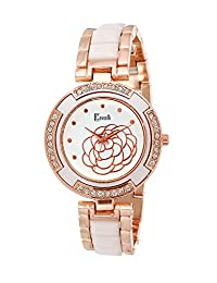 Cavalli Women's Two Tone -Gold/White Analog Watch - B01E0KZ0ZA