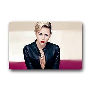 Amazon.com : Custom - Miley Cyrus Doormat Indoor/Outdoor Floor Mat