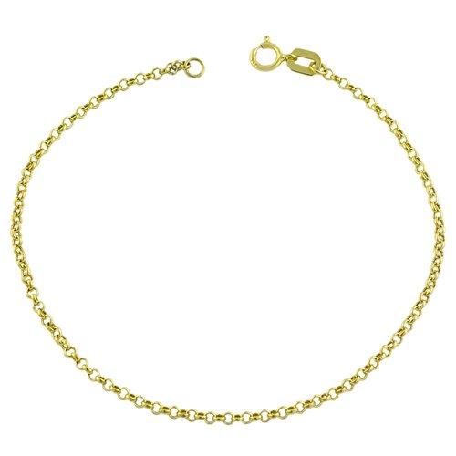 14 Karat Yellow Gold Rolo Bracelet (7 inch)