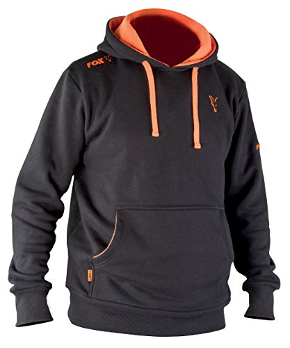 Fox Hoodie Black / Orange Kapuzenpullover
