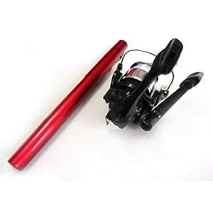 Pen shape fishing rod pocket reel fishing set for Pen fishing rod amazon