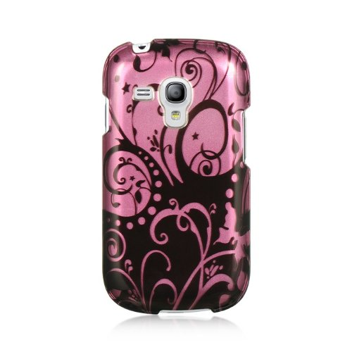 Dream Wireless CASAMGTI8190PPBKSW Slim and Stylish Design Case for the Samsung Galaxy S3 Mini - Retail Packaging - Purple/Black Swirl (Sport Case Samsung S3 Mini compare prices)