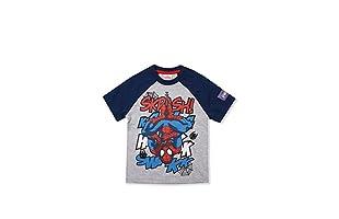 MARVEL Camiseta Manga Corta Skrash (Gris / Azul Marino)