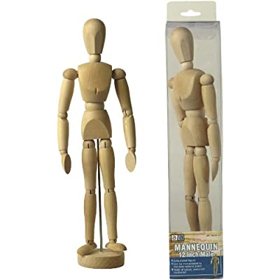 Art Advantage 12-Inch Male Mannequin