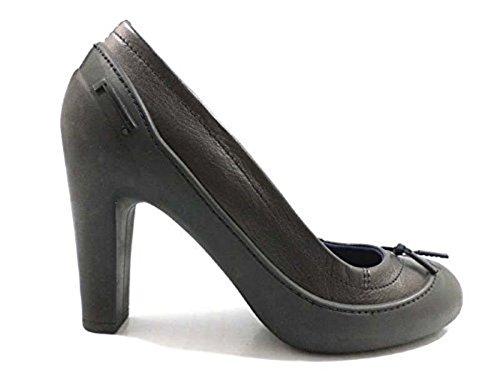scarpe donna PIRELLI 36 EU decoltè nero gomma pelle WH299