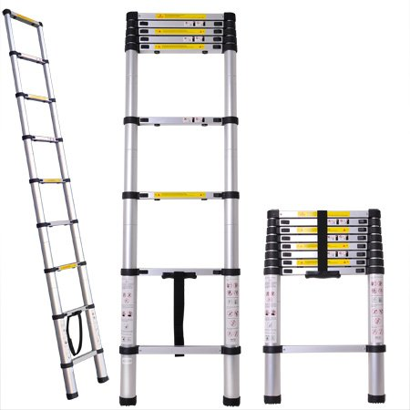 Professional Heavy Duty 8.5 ft Aluminum Extension Telescopic Contractor Ladder Type 330 lbs