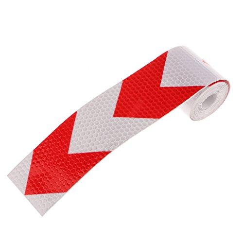 reflektierende-warn-auffalligkeit-band-pfeilmuster-aufkleber-rot-mit-weiss