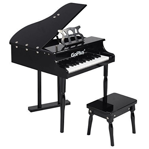 Goplus® Childs 30 key Toy Grand Baby Piano w/ Kids Bench Wood Black New (Kids Piano With Bench compare prices)