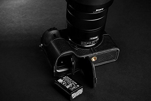 Handmade Genuine real Leather Half Camera Case bag cover for Sony A7 II A7 M2 A7 Mark II Black Bottom opening Version (A7 Mark Ii Case Black compare prices)