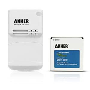 Anker® 1900mAh Li-ion Battery for HTC Sensation, Sensation XE, EVO 3D, Mytouch 4G Slide + Free Anker Multi-purpose USB Travel Charger