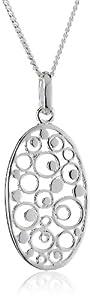 Dew SP98832HP006 - Collar de mujer de plata, 46 cm