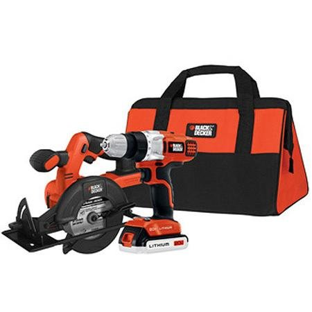 Black and Decker 20V MAX Lithium Drill and Circular Saw Kit, BDCD220CS (Black And Decker Circular Saw Kit compare prices)