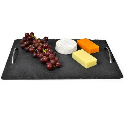 roma-slate-tray-with-chrome-handles-40-x-28-cm