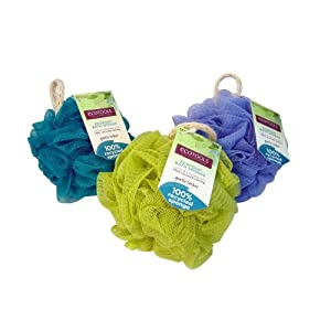 EcoTools Ecopouf Bath Sponge, Assorted Colors (Pack of 6)