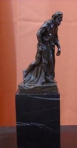 Pedestal Bronze Marble Statue Burghers of Calais Eustache De St. Pierre A. Rodin
