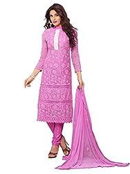 Isha Enterprise Women's Pure Chiffon Dress Material(KFD452-1864_Pink)