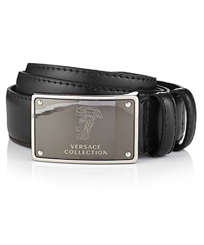 Versace Collection Men's Leather Belt (34us /