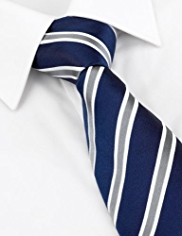 Sartorial Pure Silk Textured Striped Tie