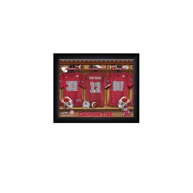 d265418d1 Alabama Crimson Tide Personalized Locker Room Print on PopScreen