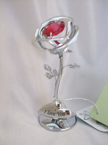 crystocraft-free-standing-silver-plated-i-love-you-single-red-rose-ornament-with-swarovski-elements