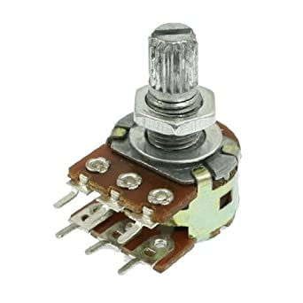 6 pin telephone wiring diagram 6 pin potentiometer wiring schematic b50k ohm dual linear taper 6 pins rotary potentiometers pots: amazon.com: industrial & scientific