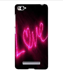 ColourCraft Love Quote Design Back Case Cover for XIAOMI MI 4I