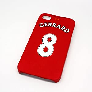 Liverpool FC Gerrard Football Shirt Style Cover Case for iPhone 4/4s- Non Fade, Hard Wearing Rubberised Finish packaged in Presentation Box from SmartRestyle