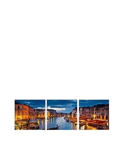 Baxton Studio Early Evening Venetian Canal Triptych, Multi