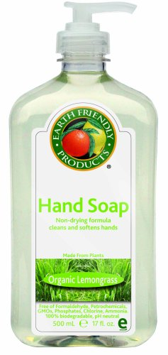 Earth Friendly Products Hand Soap, Lemongrass, 17-Ounce Bottle (Pack of 6)