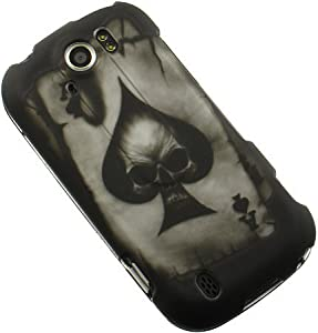 HTC Mytouch 4g Slide Accessory - Ace of Spade Skull Design Protective Hard Case Cover for TMobile