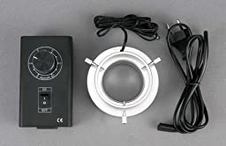 AmScope LED-80-YN 80 LED Microscope Aluminum Ring Light + Adapter