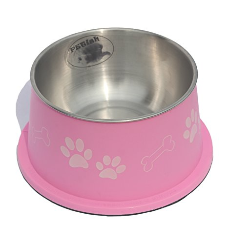PETish Spaniel Bowl for Long Ear Dog (Large ( 27oz - 7.5 x 6.0 x 3.7inch ), Candy Pink)