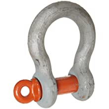 CM M655A-G Screw Pin Midland Anchor Shackle, Alloy Steel, 1-1/8&#034; Size, 15 ton Working Load Limit