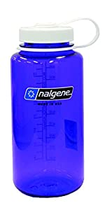 Nalgene BPA Free Tritan Wide Mouth Water Bottle, 1-Quart, Purple