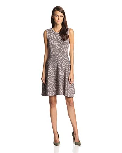 Rebecca Taylor Women's Animal Fit and Flare Knit Dress
