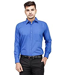 Frankline Men's Formal Shirt (Frankline-8_ Blue_42)