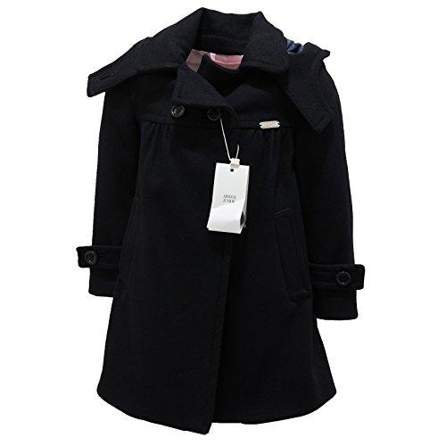 9145L cappotto bimba blu ARMANI JUNIOR lana giacche jackets coats kids [2 YEARS]